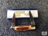 {126} American Blade AK 838 Pick Bone Stag L840 - 1 of 5000 w/Original Box