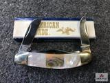 {127} American Blade M105 Abalone & Pearl Stripped L840 - 1 of 1000 w/Original box