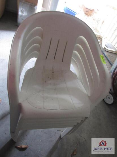5 Plastic Chairs