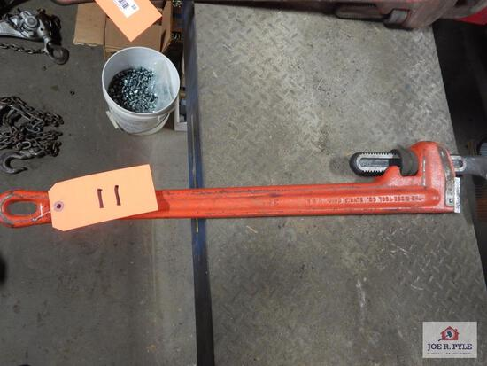 "Rigid 36"" pipe wrench"
