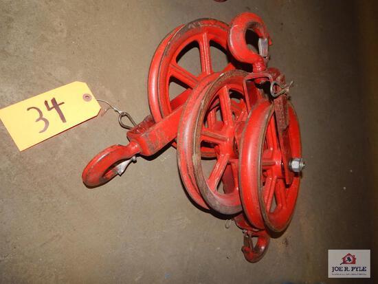 Steel wheel pullies