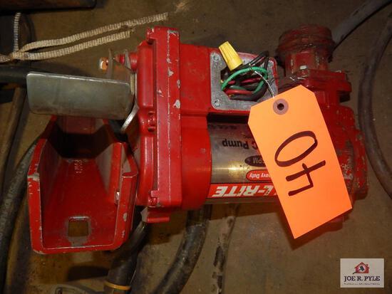 Fill Rite electric pump