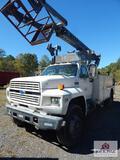 1991 Ford F800 bucket truck w/ Onan commercial 6500 generator VIN: 1FDXK84AONVA13914