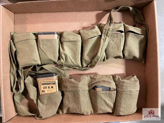 Lot of 2 US M1 Garand ammo bandoleers
