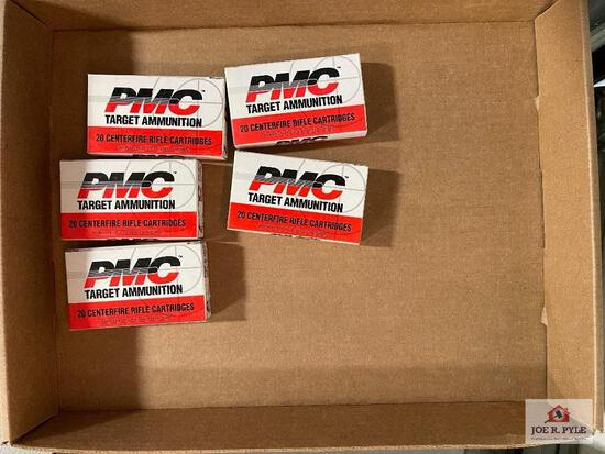 Lot of 5 boxes 20 each of PMC .223 ammo