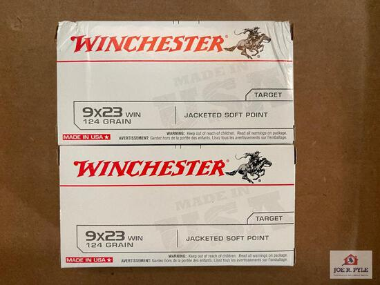 Lot of 2 Boxes of Winchester 9x23 Win ammunition