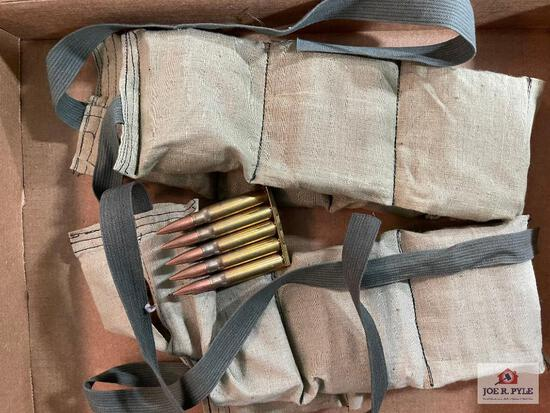 Lot of 2 Battle Pack bandoleers of military ammunition