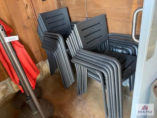 Lot 17 metal porch chairs