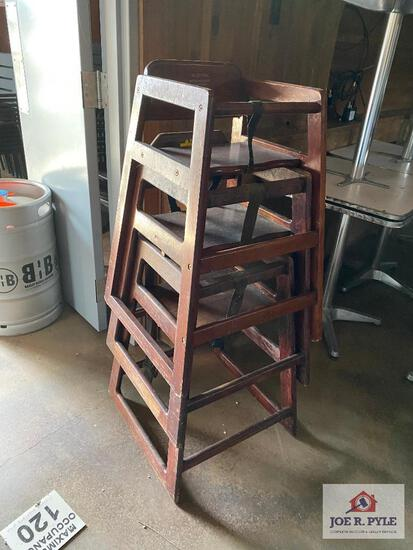 Lot 3 wood highchairs