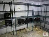 Lot 4 metal freezer racks
