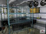 Lot 3 metal freezer racks