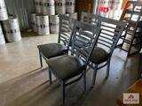 Lot 4 metal bar chairs