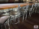 6 metal bar stools