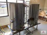 Electric Brewing Pro Series control panel for brewing system & 2 Brite tanks