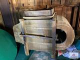 antique thrashing machine