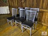 Lot 6 aluminum chairs