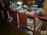 Contents of bar upstairs: cash register, bar ware, bar supplies, etc