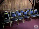Lot 12 metal chairs