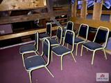 Lot 8 metal chairs