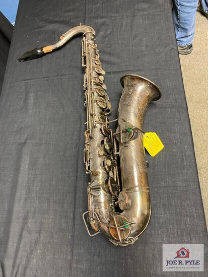 Buescher C melody Sax #42166, popular in 1920-30's new pads playable