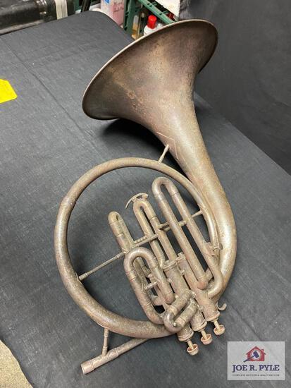 Ohio Band Instrument Co Mellophone F/E flat #19415, between 1853-1915, no case
