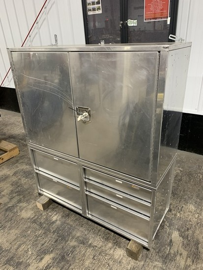 "Stainless Toolbox 4'W x 18""L x 54""H"