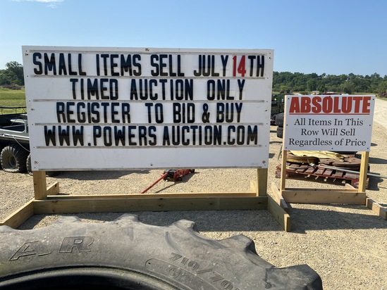 Small Items - Timed Auction - July 14th