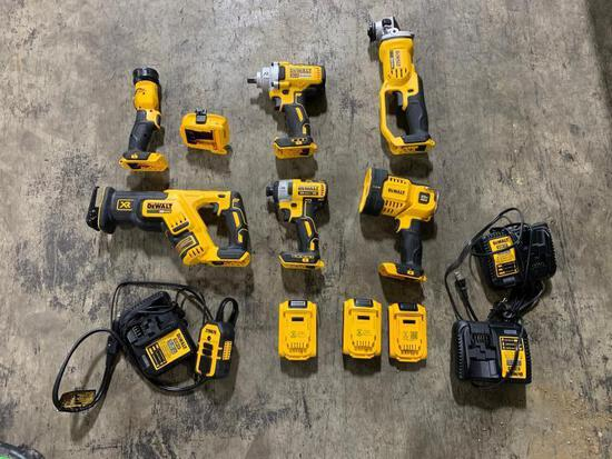 Dewalt 6 Piece Cordless Tool Set - Like New