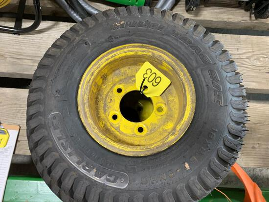 (2) John Deere Tires and Rims