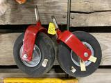 (2) New Gauge Wheels for Lawn Mower