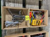Boxes of Wrenches, Drills Bits, Screw Drivers