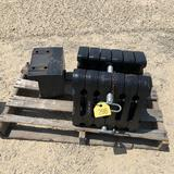 New - New Holland Suit Case Weights w/ Bracket