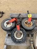 (3)  Lawn Mower Gage Wheels