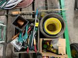Yard Hand Tools, Flower Pots, Tomato Cages