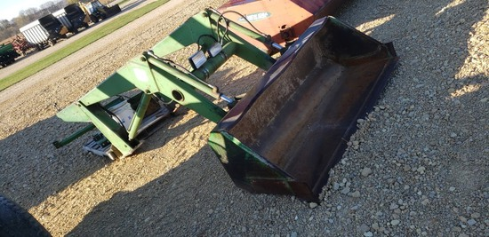 JD 148 HYD LOADER W/ MOUNTS-OFF 3020 TRACTOR