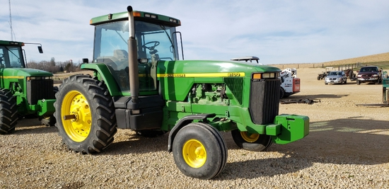 1995 JD 8100 TRACTOR, 2 WD, 7.6L ENGINE-466