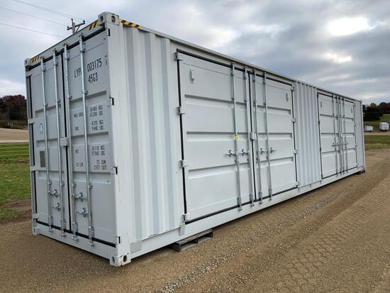 40' High Cube Four Multi-Door Container