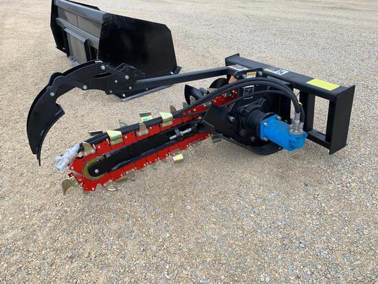 New - Unused 4' Skid Loader Trencher Attachment