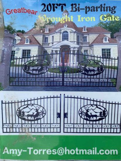 New - Unused Bi-Parting Wrought Iron Gates