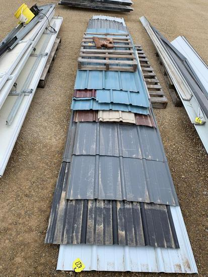 Pallet of Misc Color / Size Shed Tin