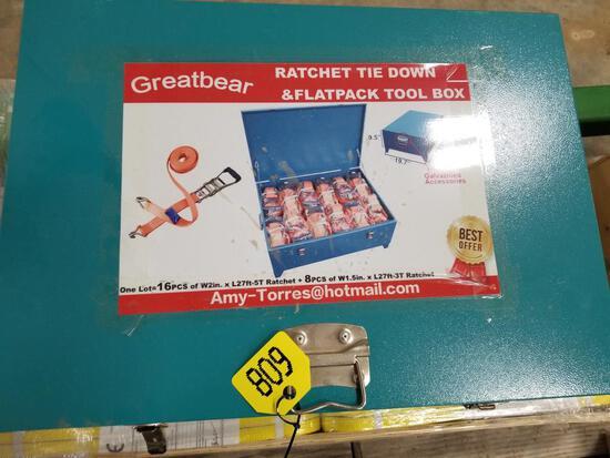 New - Ratchet Tie Down Toolbox