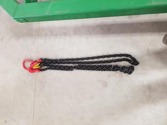 """New - 5/16"""" 7' G80 Double Chain Sling"""