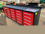 New 10' - 25 Drawer Toolbox / Work Bench