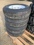 New - Rainier ST 225/75R15 Tires on 6 Bolt Rims