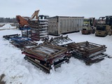 Large Lot of Stackable Metal Pallets