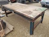 Metal Frame w/ Wood Shop Table