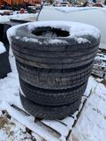 (4) 11.6-22.5 Truck Tires