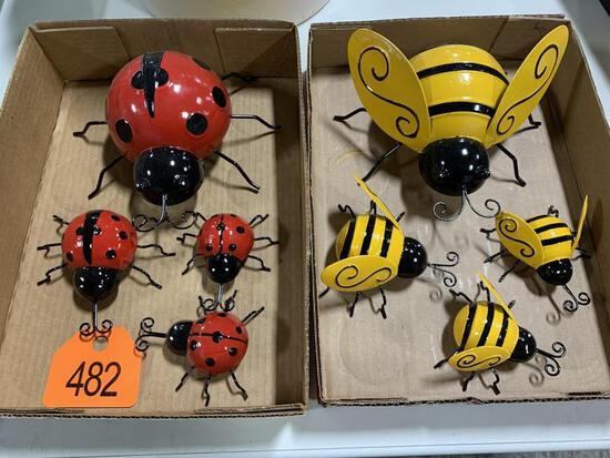 Set of Lady Bugs & Set of Bees