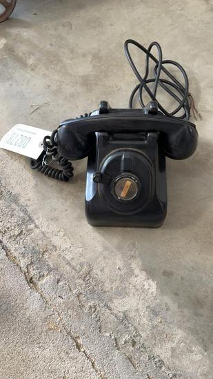 ANTIQUE LERCH DESK PHONE - CRANK STYLE