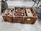 3) BOXES OF WOOD BLOCKS